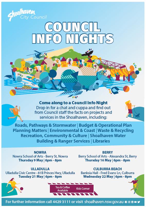 Council Info Night Ulladulla 21 May 2019