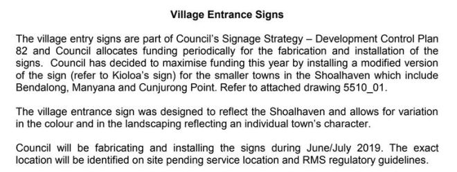 14 June 2019 Letter from SCC re Village Entry Signs